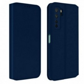 Housse pour Huawei P40 Lite 5G stand folio bleu nuit
