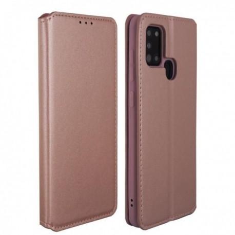 Housse pour Samsung A21S stand folio rose