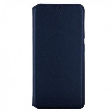 Housse pour Samsung A31 stand folio bleu nuit