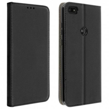 Housse pour Motorola E6 Play stand folio noir