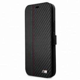 BMW – Etui folio noir pour Iphone 12 Pro Max M-Collection bi matière