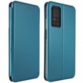Etui Folio pour Xiaomi MI 10T 5G/MI 10T PRO 5G stand magnétique bleu nuit
