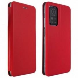 Etui Folio pourXiaomi MI 10T LITE 5G stand magnétique rouge