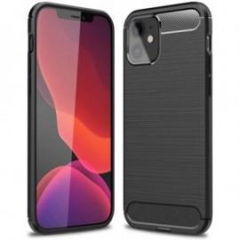 Coque pour iPhone 12 / 12 Pro 6,1'' bi-matière design noire