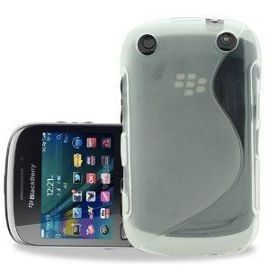 Coque Blackberry 9320 blanche transparente