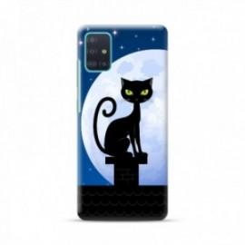 Coque pour Xiaomi MI 10T Pro personnalisée motif Cat night