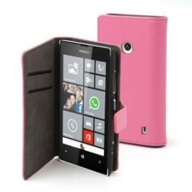 Etui Nokia lumia 520 / 525 folio rose Muvit