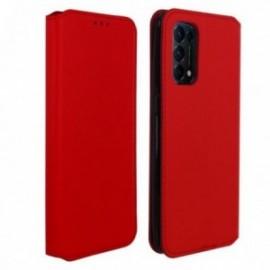 Etui pour Oppo Find X3 Lite Folio stand porte carte rouge