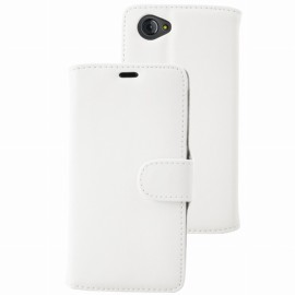 Etui Folio Ucall Houston aspect cuir blanc