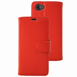 Etui Folio Ucall Houston aspect cuir rouge