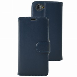 Etui Folio Ucall Houston aspect cuir bleu