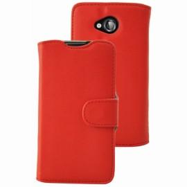 Etui Folio Ucall Austin aspect cuir rouge