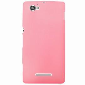 Coque Sony xperia M silicone rose