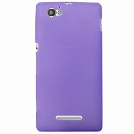 Coque Sony xperia M silicone violette
