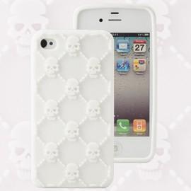 Housse minigel tête de mort blanc iPhone 4/4S