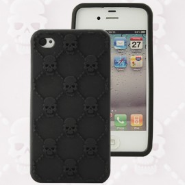 Housse minigel tête de mort noir iPhone 4/4S